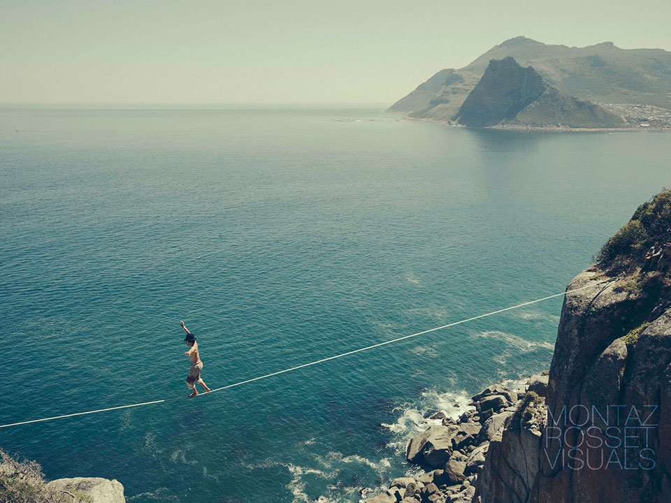 Soloing a highline in Cape Town