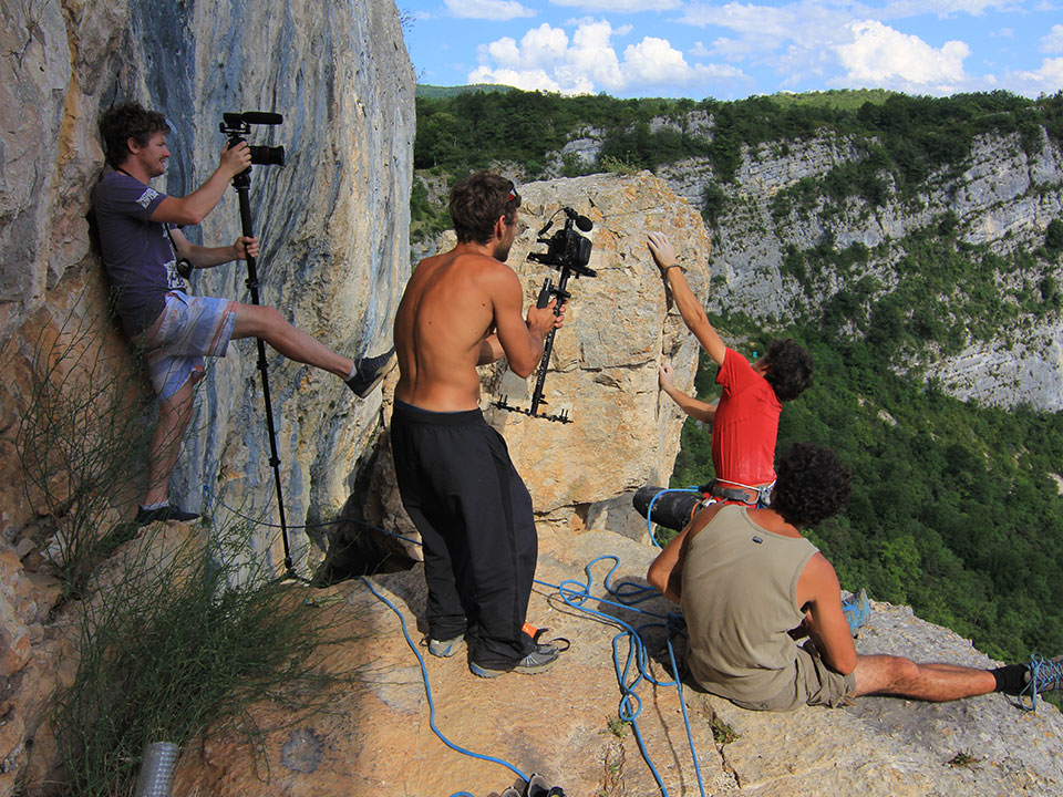 Casio shooting in Vercors cliffs