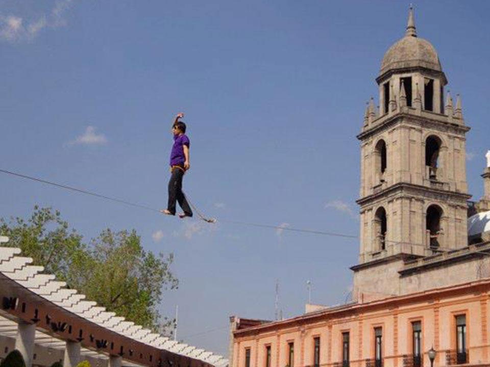 Highline dans la ville de Toluca