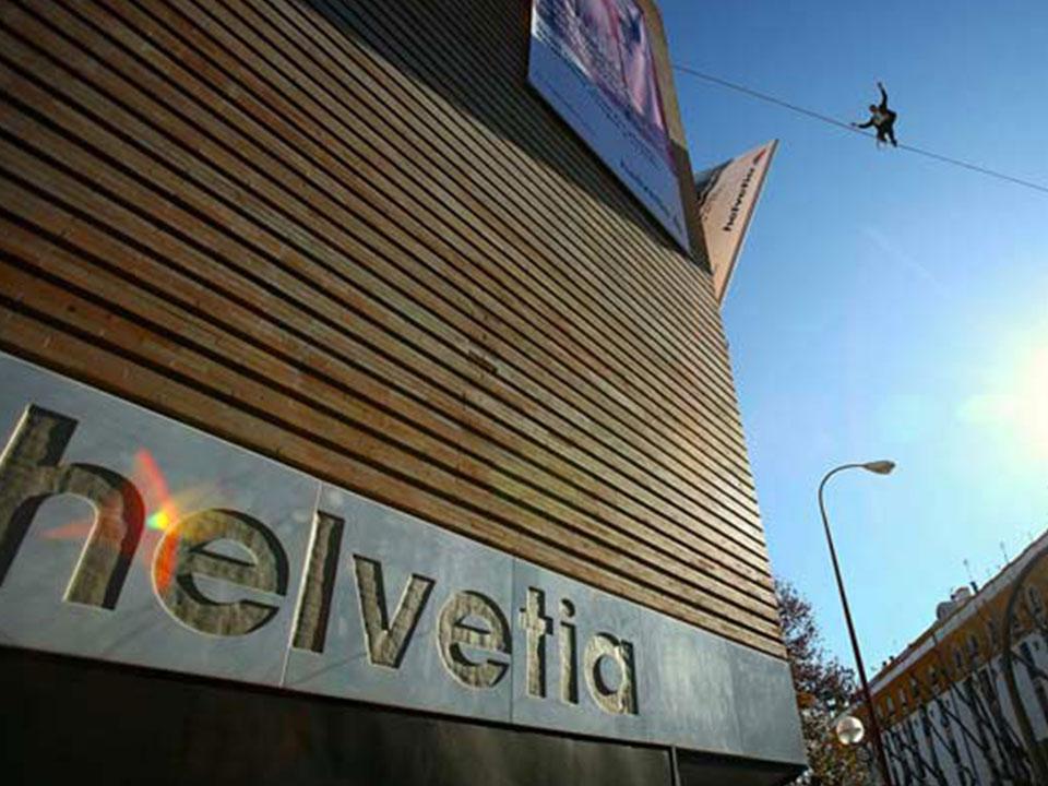 Démo de highline pour Helvetia assurances