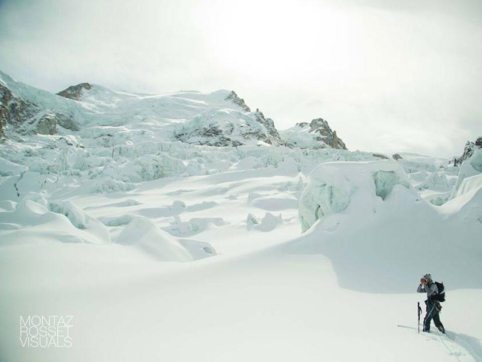 Au beau milieu du massif du Mont-Blanc