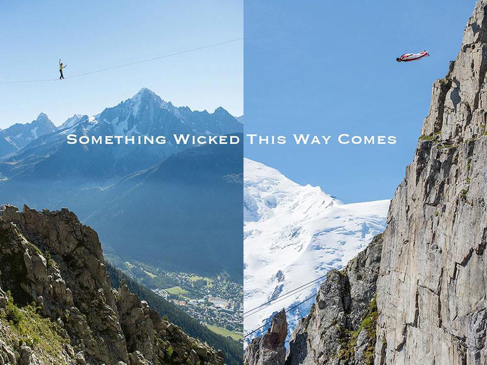 Wingsuit vs Highline